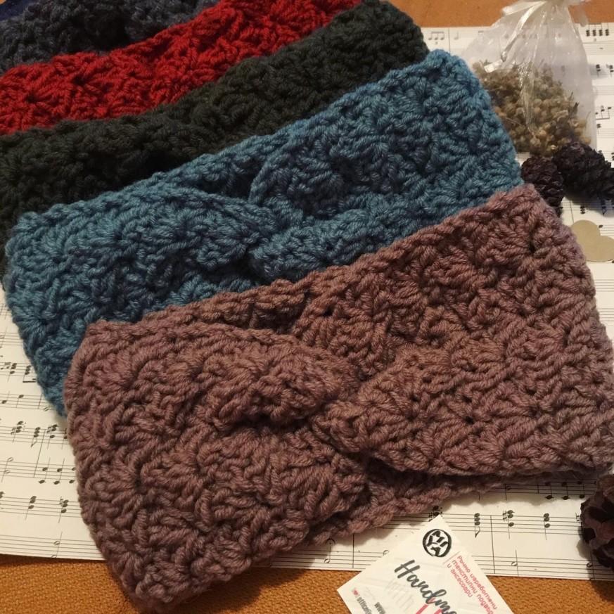 Плетена лента за глава Цвете