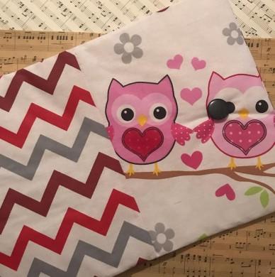 Подвързия за книга с десен със сови