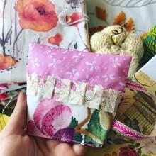 Ръчна изработка текстилна подложка за чаша с декорации и подплата
