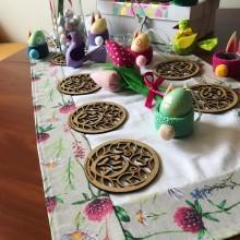 Комплект дървени подложки за чаши MIYA