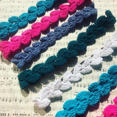 Плетена лента за коса Ажур
