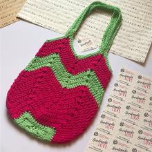 Комплект плетени чанти Диня за майка и дъщеря