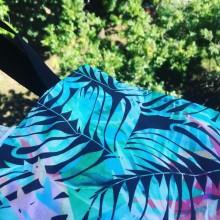 Дамска чанта Тропик с дълги дръжки и вътрешен джоб
