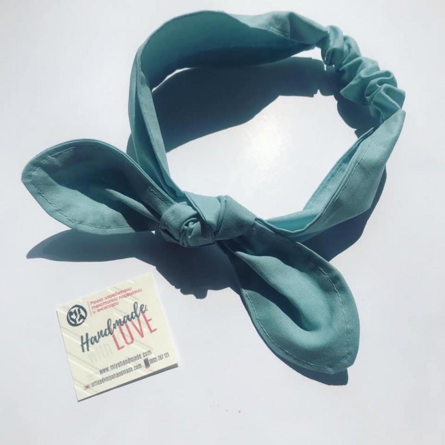 Синя регулируема лента за коса