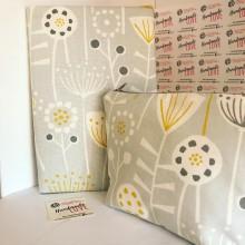 Промо комплект за подарък Подвързия за книга и несесер Цветя и билки