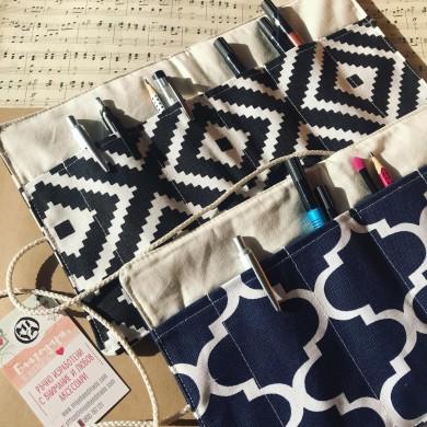 Текстилен органайзер калъф за химикали, моливи, четки Орнаменти