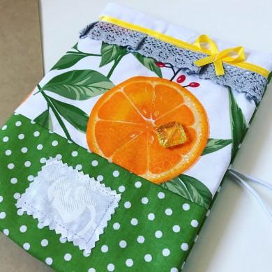 Текстилна подвързия Сладко от портокалови корички