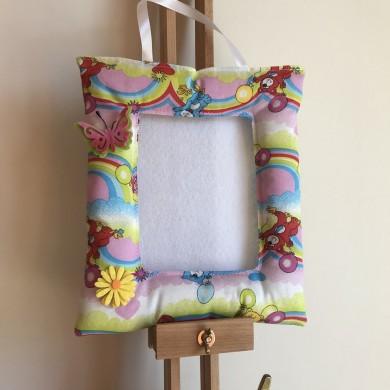 Шарена текстилна рамка за снимка 10 на 15см. с мечета
