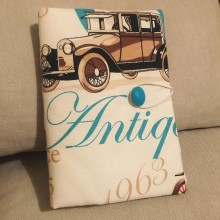 Подвързия за книга с ретро коли