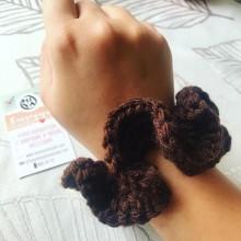 Коплект плетени ластици за коса тип скрънчи Гора