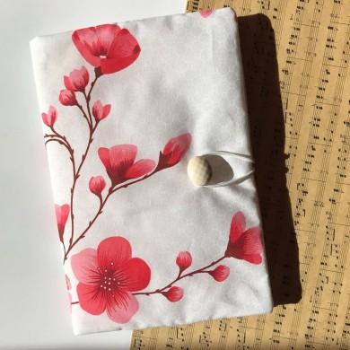 Ръчно изработена подвързия за книга Нежни пролетни цветове