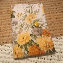 Текстилна подвързия за книга с жълти рози