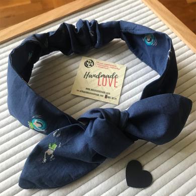 Лента за коса в тъмно синьо