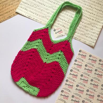 Малка плетена чанта Диня