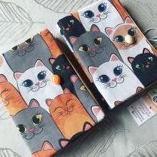 Подвързия за книга Весели котки