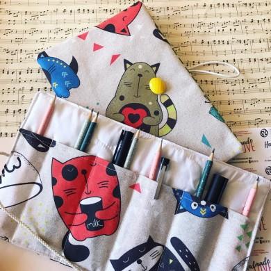 Подаръчен комплект аксесоари Котки с подвързия за книга и органайзер
