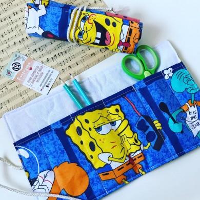 Ръчно изработен текстилен органайзер Spongebob