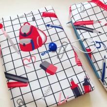 Текстилна подвързия за книга Училище