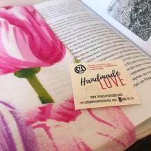 Подвързия за книга Лалета от памучен плат