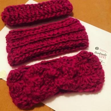 Плетени ленти за глава Малина