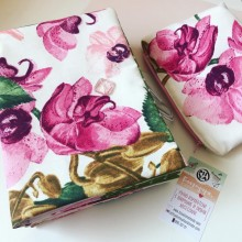 Комплект ръчно изработени аксесоари с десен Орхидеи