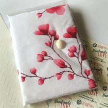 Подвързия за книга размер А5 с пролетни цветя