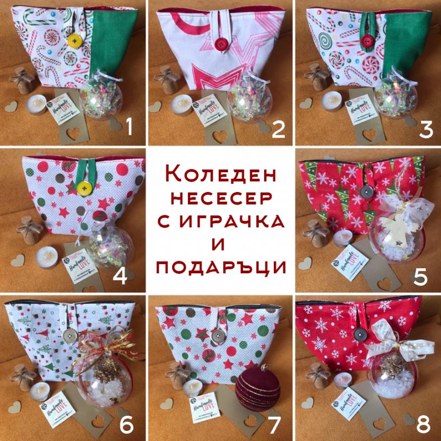 Коледен несесер с играчка за елха, подправка за сладки и декорации