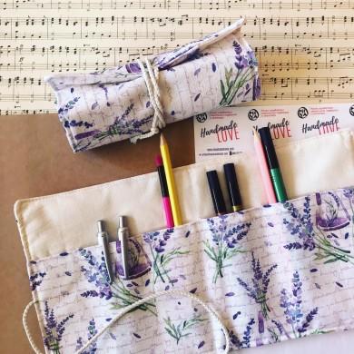 Текстилен органайзер за химикали и четки Лавандула