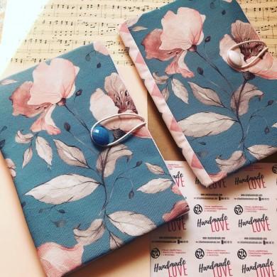 Текстилни подвързии за книги ръчна изработка Нежен цвят