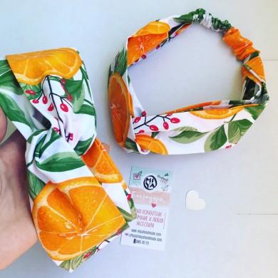 Лента за коса Портокали
