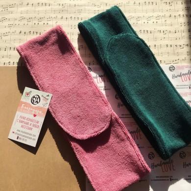 Козметична лента за коса в розово или тъмно зелено