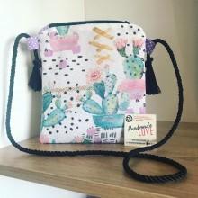 Чантичка със свежи десени за през рамо за госпожици