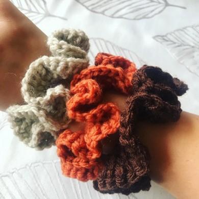 Комплект 3 броя плетени скрънчита Есен