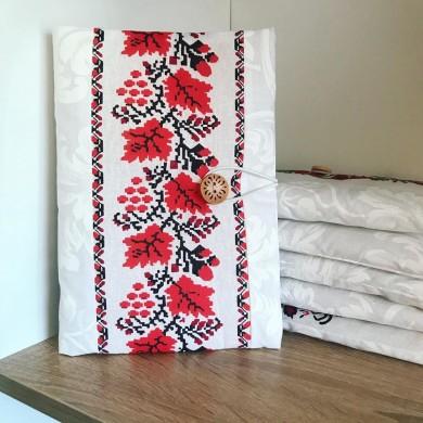 Текстилна ръчно изработена подвързия за книга Шевици