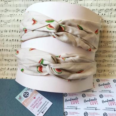 Лятна лента за коса Плодове с преплитане и ластик за регулиране