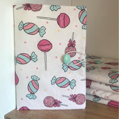 Ръчно изработена текстилна подвързия за книга Бонбони