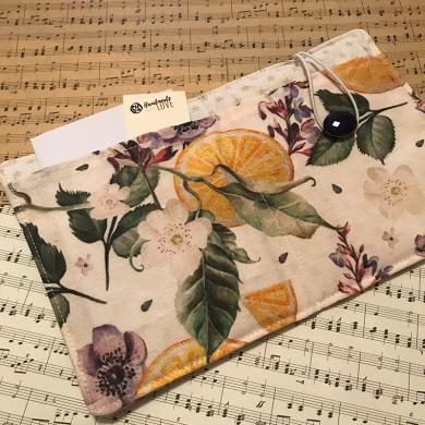 Текстилна подвързия за електронен четец и органайзер за бележник Цитруси