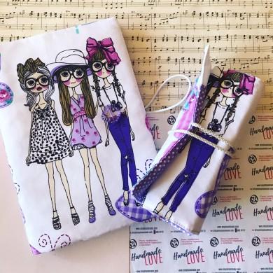 Подаръчен комплект за момиче с подвързия за книга и моливник