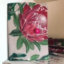 Подвързия за книга ръчна изработка с големи цветя