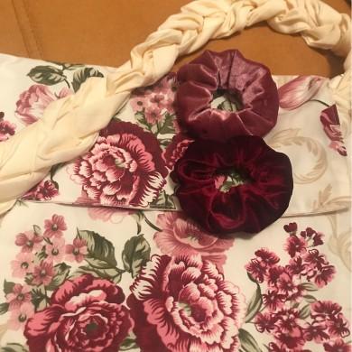 Дамска чанта винтидж рози