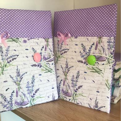 Ръчно изработена подвързия за книга с лавандула и панделка